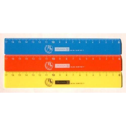 Balkezes 17 cm-es vonalzó, sárga