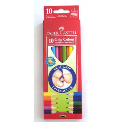 Faber-Castell 10 színű háromszög színes ceruza készlet