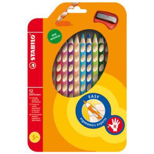 STABILO EASYcolors 12 színű színes ceruzakészlet, jobbkezes