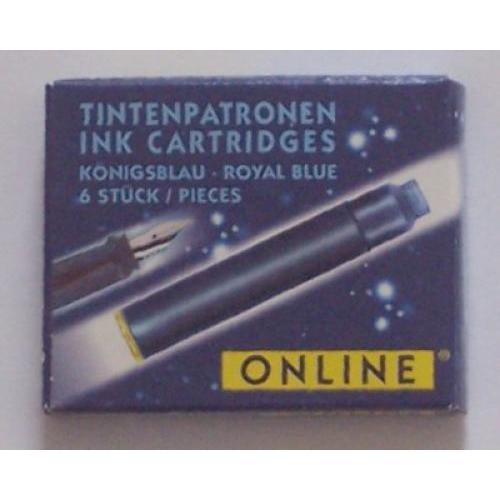 Tintapatron töltőtollhoz, kék