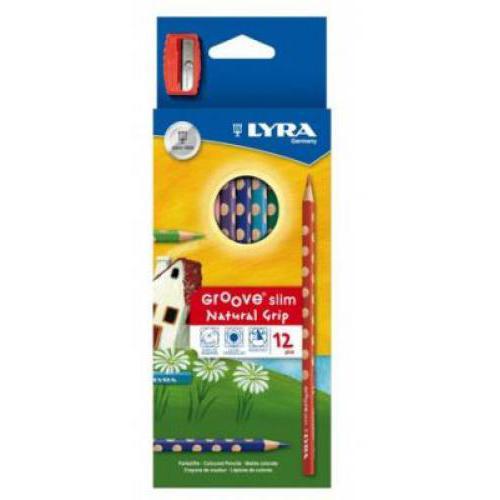 Lyra Groove Slim színes ceruza, 12 színű