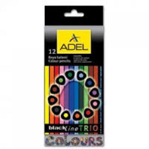 ADEL blackLine TRIO színes ceruza készlet, 12 színű
