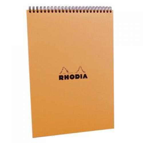 Clairefontaine Rhodia Orange A/4-es, 80 lapos, vonalas spirálfüzet