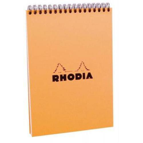 Clairefontaine Rhodia Orange A/5-ös, 80 lapos, kockás spirálfüzet
